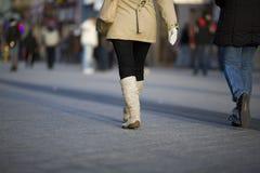 Women walk on the street Royalty Free Stock Photography