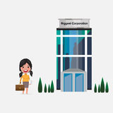 Women walk-in to office building -  illustration Stock Photography