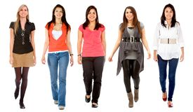 Women walking Royalty Free Stock Photography
