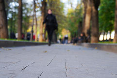 Women walking on city street Stock Image