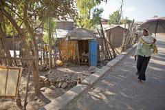 A women walking, Ethiopia Stock Photo