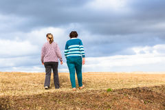 Women Walking Explore Nature Parks Stock Photos