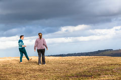 Women Walking Explore Nature Parks Royalty Free Stock Photo
