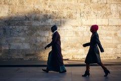 Women walking in Istanbul Royalty Free Stock Image