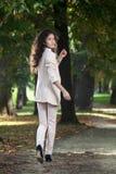 Women walking in park Stock Images