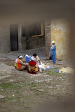 Women washing their clothes in El Jadida, Morocco Royalty Free Stock Photography