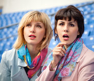 women watching  competition or concert Stock Photography