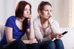 Women watching movie Royalty Free Stock Images