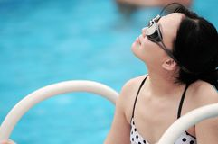 Women by water Royalty Free Stock Photography