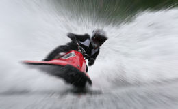 Women Watercraft Racing zoom Royalty Free Stock Image