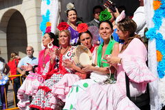 Women  the way to of El Rocio Stock Photos