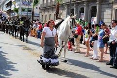 Women  the way to of El Rocio Stock Photography