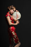 The women wear a Cheongsam Royalty Free Stock Photos