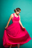 The women wear a dress Royalty Free Stock Images
