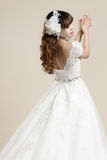 The women wear a wedding dress Royalty Free Stock Image