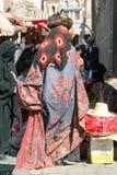 Women wearing the burqa Stock Photos