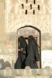 Women wearing the burqa Stock Photo