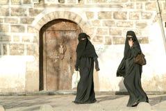 Women wearing the burqa Stock Image