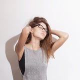 Women wearing eyeglasses Royalty Free Stock Photos