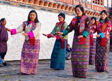 Traditional festival in Bumthang, Bhutan Stock Image