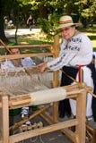 Women weaving Royalty Free Stock Image