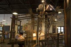 Women weaving silk brocade Stock Image