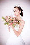 Women in wedding dress Stock Image