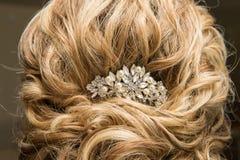 women wedding hairstyle stock photos