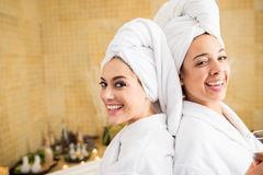 Women at wellness spa Stock Photos