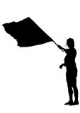 Women whit flag one Royalty Free Stock Photography