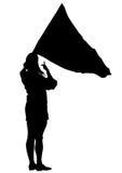 Women whit flag three Royalty Free Stock Image