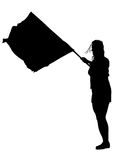 Women whit flag two Stock Photography