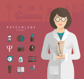 Women in a white coat psychologist. Stock Photos