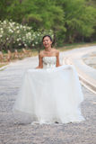Women in white dress bride Stock Images