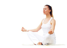Women in white - relaxation Royalty Free Stock Photography