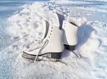 Women white skates. Stock Image