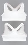 Women white sport bra Royalty Free Stock Photos