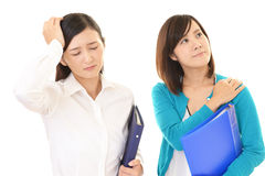 Women who is confused. Stock Image