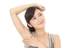 Women who do skin care stock photography
