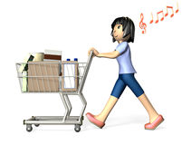 Women who enjoy shopping Stock Photo