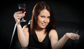 Women With Wine Royalty Free Stock Photo