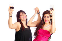 Women and wine Stock Photography