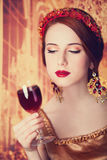 Women with wine. Stock Photo