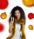 Women with wineglass Stock Images