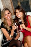 Women with wineglasses Royalty Free Stock Photography