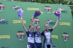 Women Winners Podium at Stillwater Criterium Royalty Free Stock Image