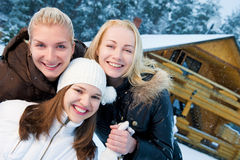 Women in winter clothing Royalty Free Stock Photography