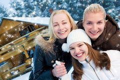 Women in winter clothing Stock Photography