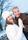 Women in winter clothing Royalty Free Stock Photo