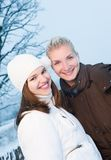 Women in winter clothing outdoors Royalty Free Stock Photo